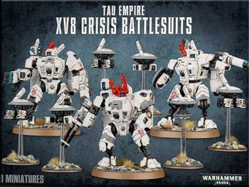 Tau Empire XV8 Crisis Battlesuit Team