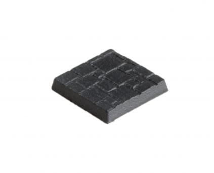 20mm x 20mm Bases Texturiert (10)