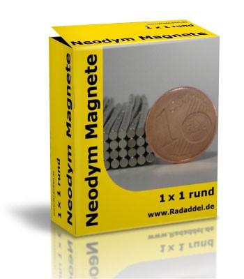 10 Neodym Magnete rund 1 x 1 mm