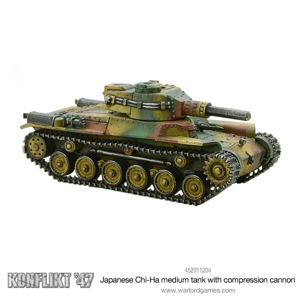 Japanese Chi-Ha Tank with Compression Turret.