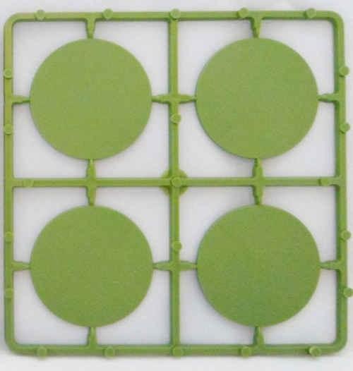 50mm runde Bases flach (8 Stück)