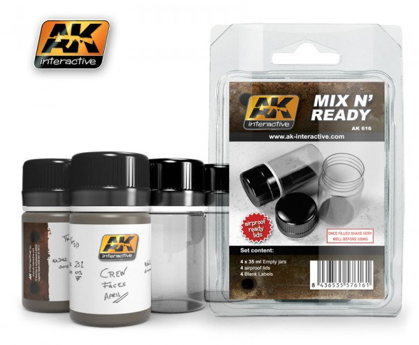 Mix n Ready ( 4 empty jars with labels)