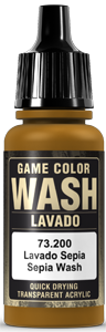 Game Color Ink 200 Wash Sepia Shade