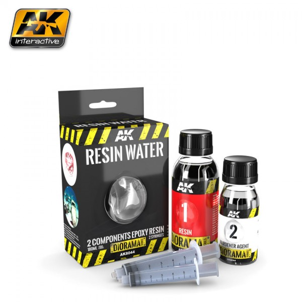 Resin Water 2-Components Epoxy Resin – 180ml (Emaillie)