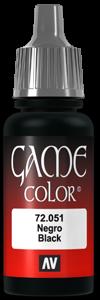 Game Color 051 Negro Black