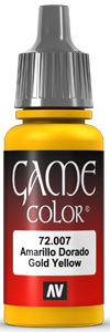 Game Color 007 Gold Yellow